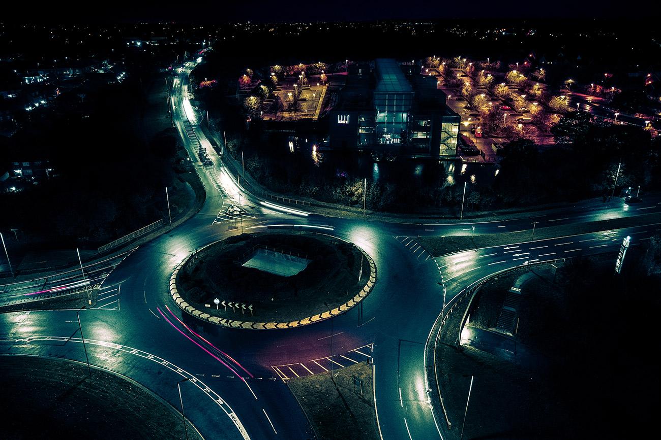 B&Q Roundabout Aerial Shot